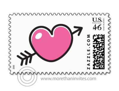 Cute stamp for Valentine's day, Save the Date, other wedding and love related mailings