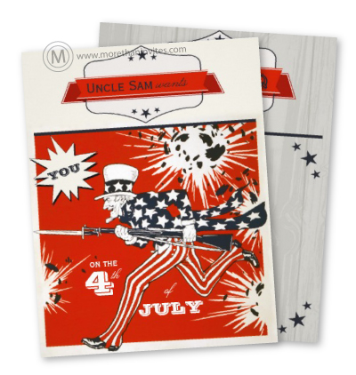 Trendy Hipster Independence Day July fourth Party Invitation