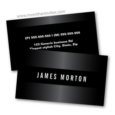 Modern masculine black and dark gray stylish professional business card template