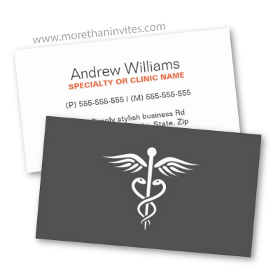 Modern minimalistic dark gray medical doctor physician business card