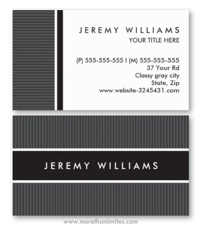 Modern stylish masculine general generic business card in black and dark gray