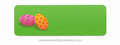 Colorful easter eggs on green grass blank return address labels
