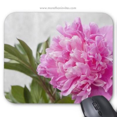 Beautiful pink peony floral mousepad