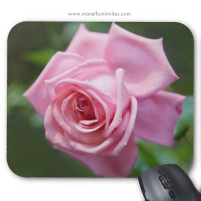 Beautiful romantic pink rose mousepad