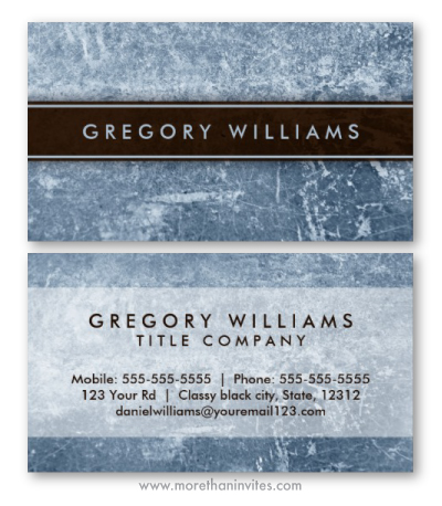 Weathered, worn steel grunge personal profile or business card template