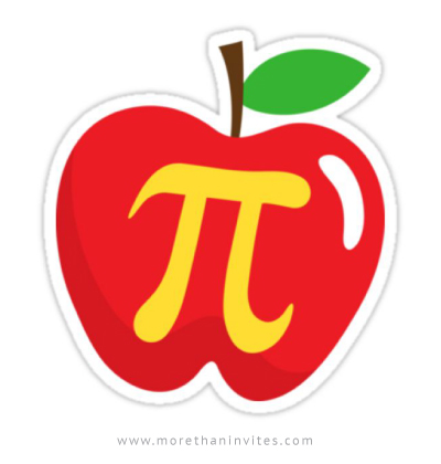 Apple pie pi symbol sticker - More than invites