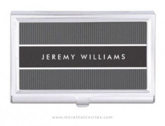 Bold and masculine, dark gray business card holder for men
