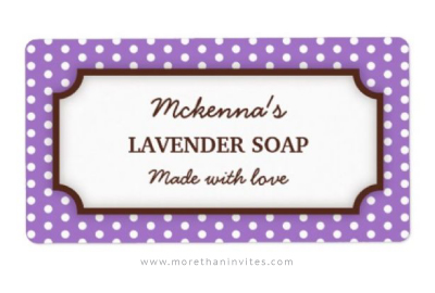 Elegant and cute personalized kitchen canning jar label