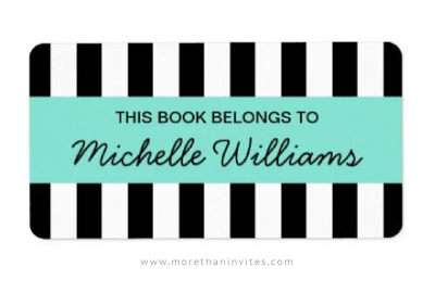 Stylish and elegant this book belongs to label with black and white stripes