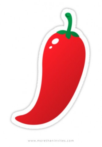 Hot, red jalapeño chilli pepper sticker