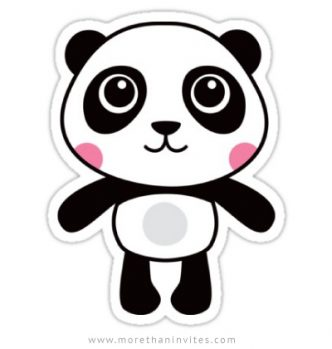 Vinyl decals featuring a cute cartoon panda