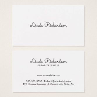 Elegant, white business cards