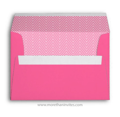 Trendy envelopes with girly pink chevron zig zag pattern
