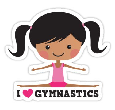 Fun stickers for gymnasts featuring a cute girl doing side splits