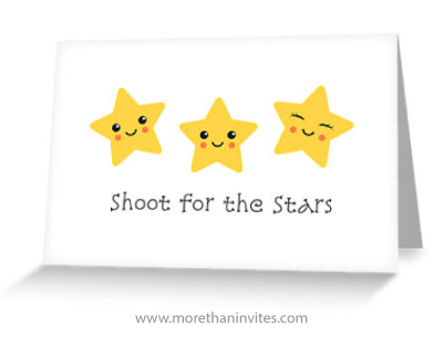 Aim for the stars greeting card
