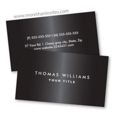 Modern masculine dark gray professional profile business card