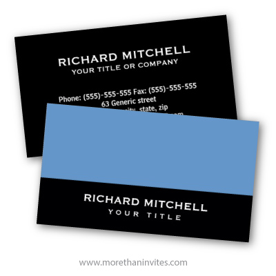 Blue-gray black modern generic general personal profile business card