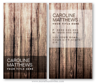 Stylish brown weathered old vintage wood general generic business cards