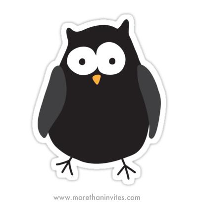 Funny quirky cartoon night owl vinyl stickers