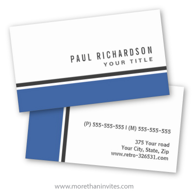 Modern general generic professional profile or business card with blue and dark gray border