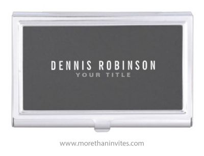 Dark gray male masculine business card holder for men