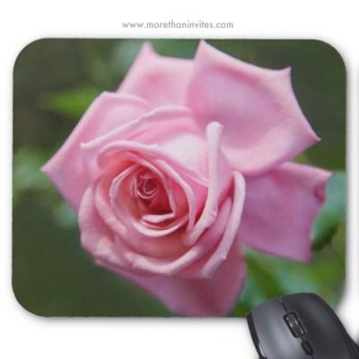 Beautiful romantic pink rose mousepad
