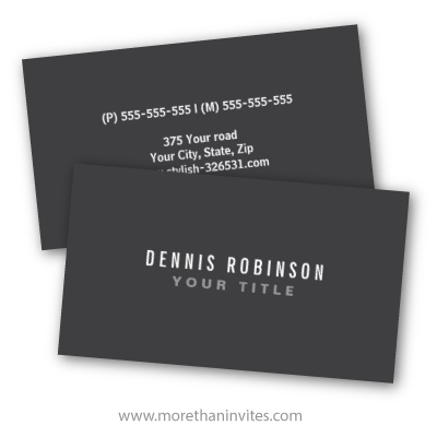 Dark gray modern general generic simple masculine personal business cards