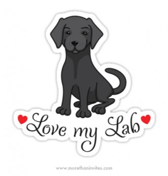 Love my labrador puppy dog sticker decal