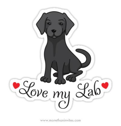 Love my labrador puppy dog sticker decal