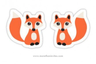 Boy and girl fox couple, vinyl decal stickers