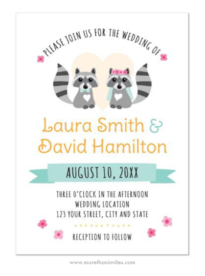 Cute Rac Wedding Invite Featuring A Bride And Groom