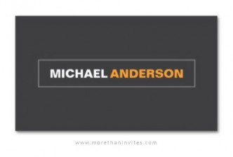 Generic professional business card for men