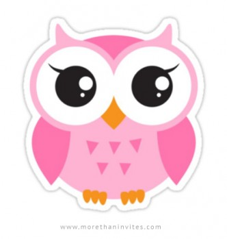 Cute cartoon owl sticker