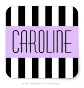 Black and white fashion stripes name tag