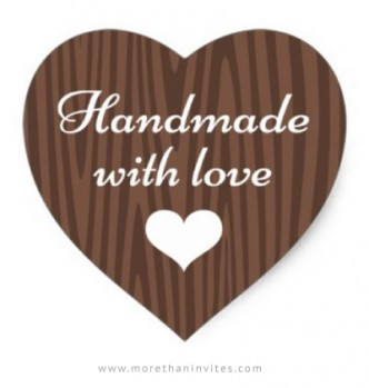 Handmade sticker for small craft businesses