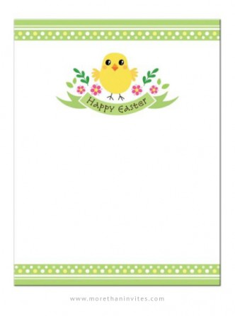 Cute chicken Easter note card