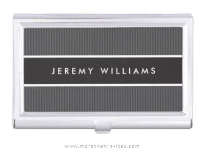Bold and masculine, dark gray business card holder for men