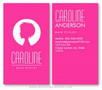 Hairstylist, beauty bar or salon business card.