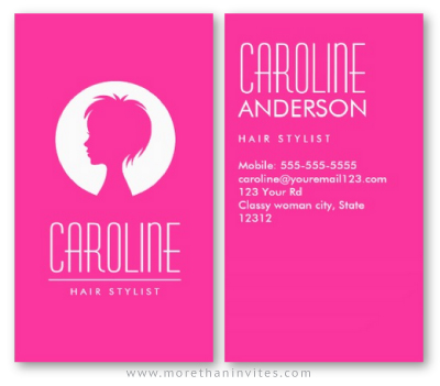 Hot pink fashion hair stylist or beautician business card more hot pink fashion hair stylist or beautician business card colourmoves