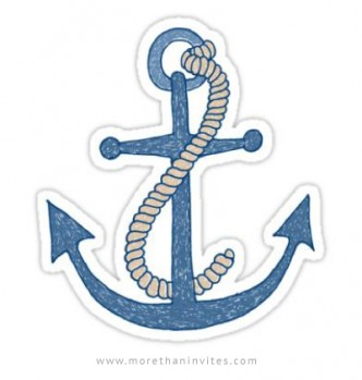 Anchor sticker