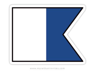 Signal flag ALFA/ALPHA - diver down sticker