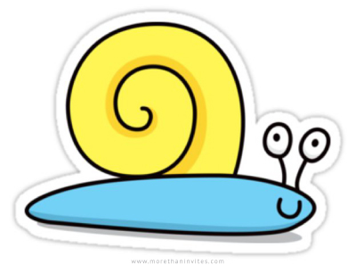 Cute cartoon snail sticker
