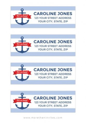 Anchors ahoy it's ably baby shower return address labels