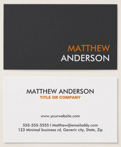 Modern and minimal business card template for men