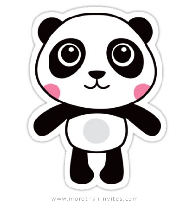 Cute Panda Stickers More Than Invites