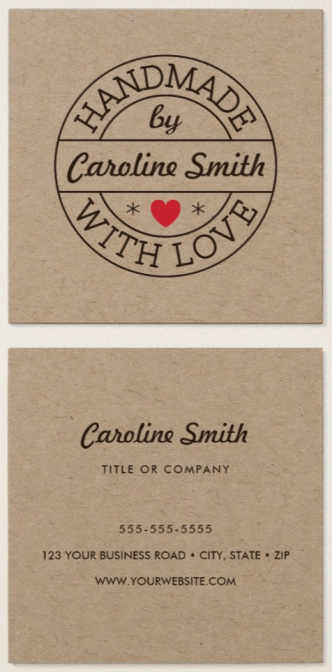 Brown kraft paper business cards for small business