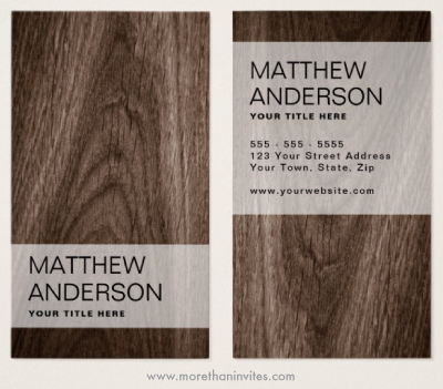 Modern, classy wood business cards