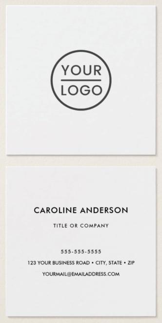 White custom logo business cards