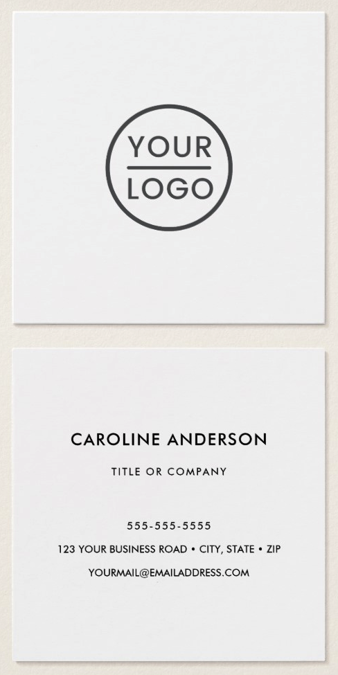 White custom logo business cards