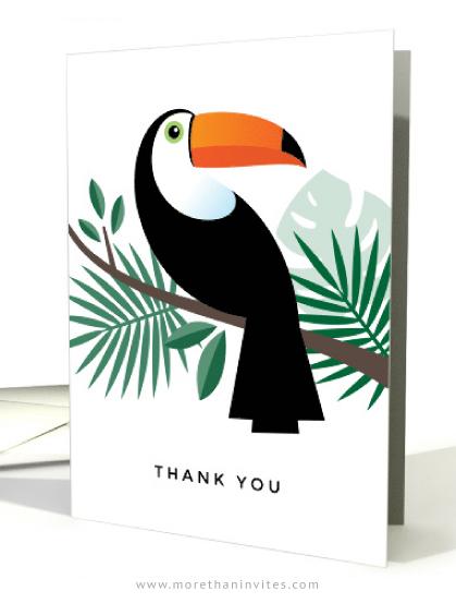 Toucan thank you cards